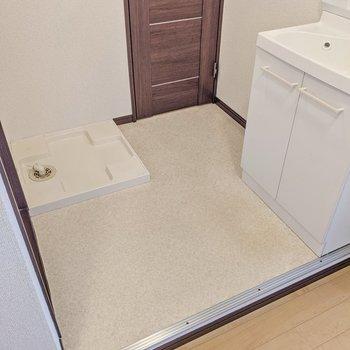 洗濯機置場が新設されたのが嬉しい!