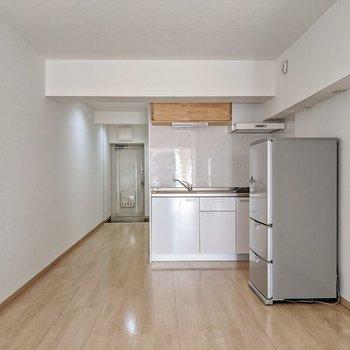 冷蔵庫はサービス設置品ですよ。