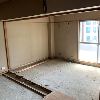 【工事前】和室からここに無垢床が入りますよ〜