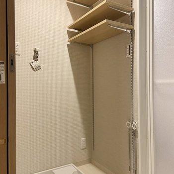 可動式の棚が便利ですね。