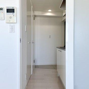 廊下にはキッチン、クローゼット、トイレがあります。