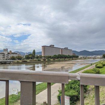 晴れた日は室見川沿いを散歩するのも楽しいですよ。