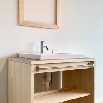 イメージ】洗面台は大工さんのお手製です!かわいい!