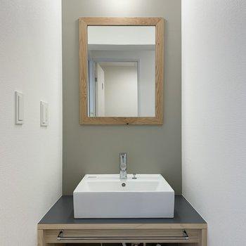 【イメージ】洗面台はかわいいオリジナル