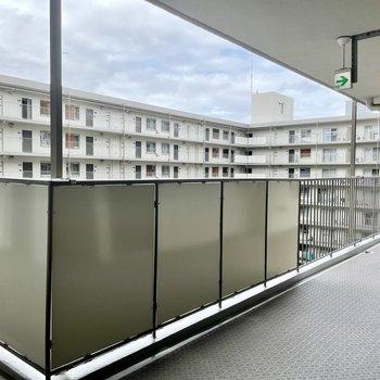 【共用部】完全に四角形になってる廊下。ドアの数がすごい。