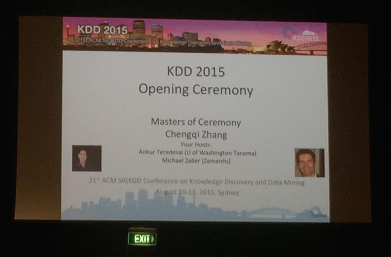 KDD2015に参加してきました