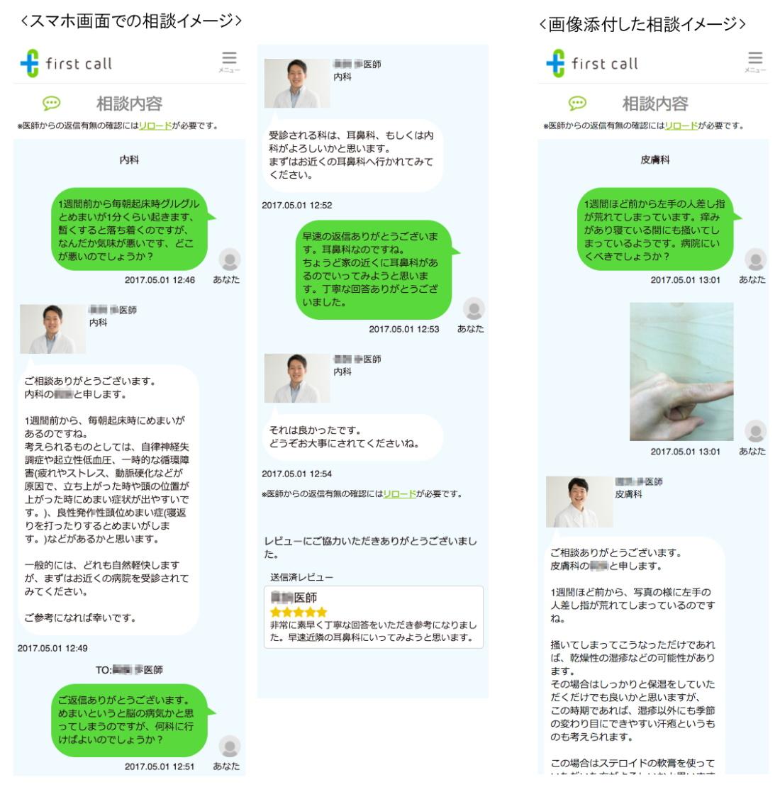 first callオンライン医療相談イメージ
