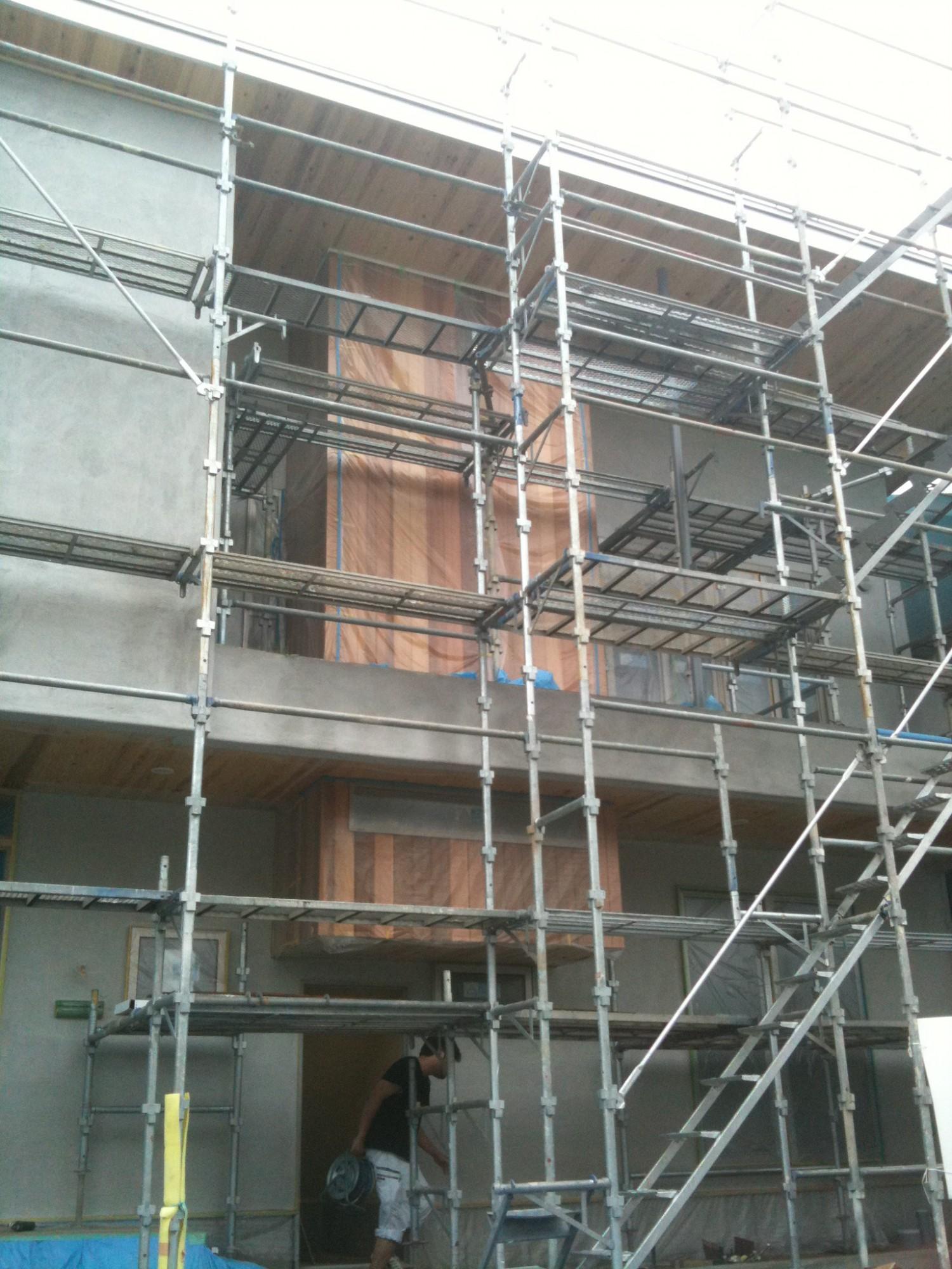 階段部分の外壁の検討