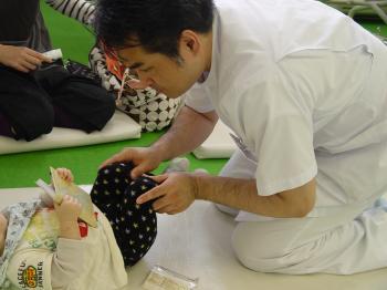 乳幼児アトピー患者さんも多く来院しています。