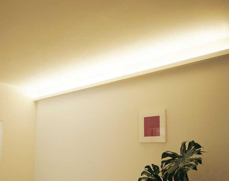 K邸リノベーション【天井の間接照明】