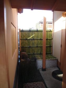 庭園と建築を繋げる/外腰掛