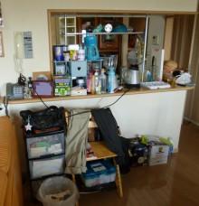 ◆おしゃれなキッチンカウンターが物置に!