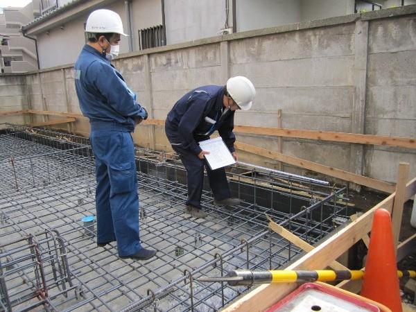 板橋区赤塚2丁目/ベタ基礎鉄筋配筋検査、無事合格しました。