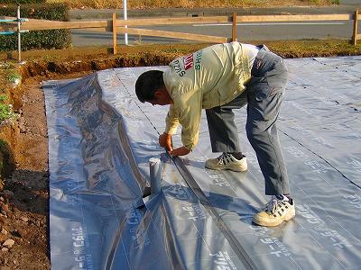 床下防湿 兼 白蟻対策