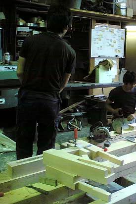 京町家仕口試験体の製作