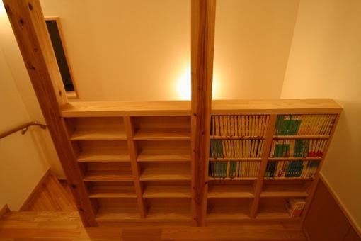 作り付けの家具04(文庫本の本棚)