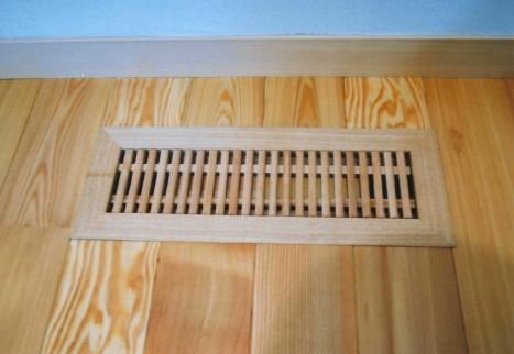 木製床通風口