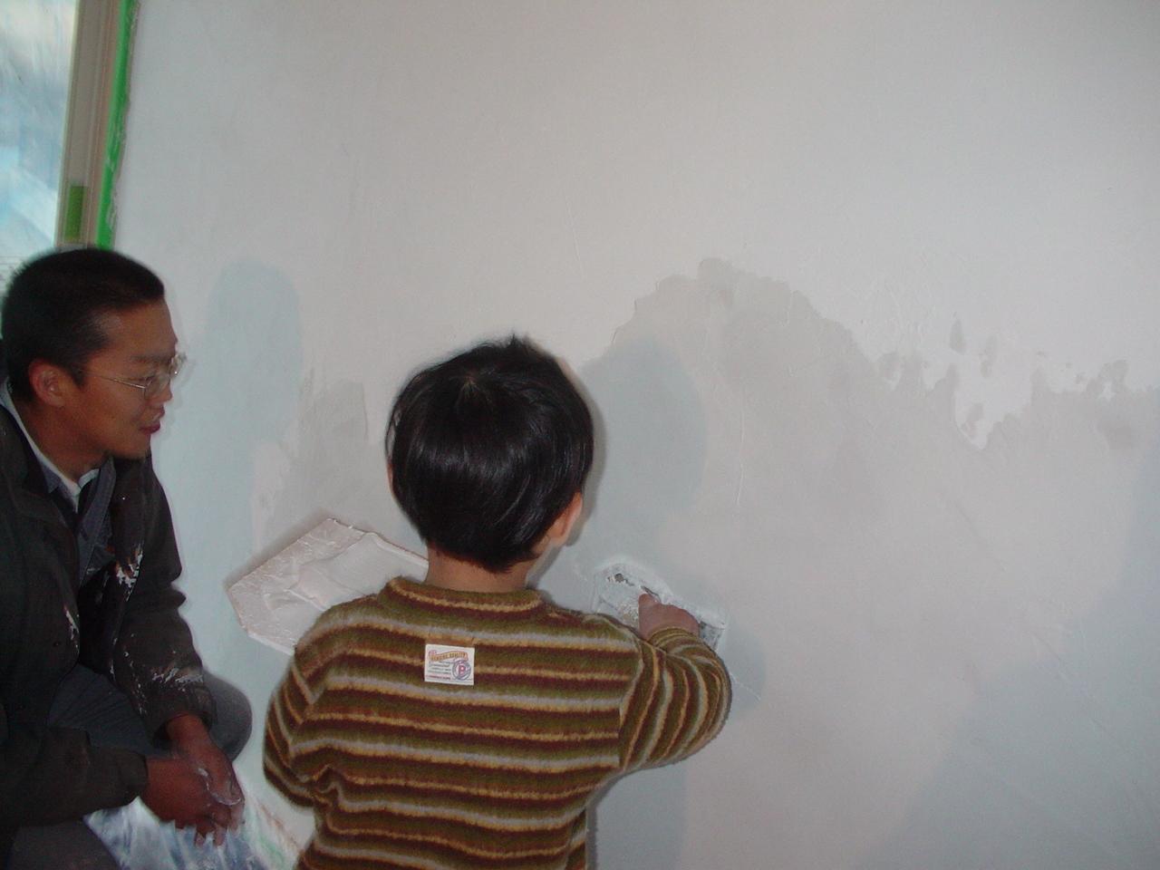 石灰クリームのセルフビルド
