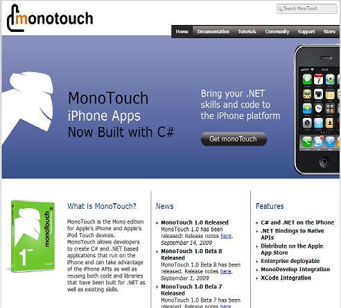「MonoTouch」 .NET用iPhoneアプリ開発キット発売