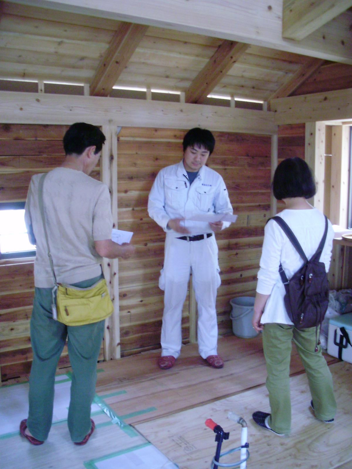 木の家・・・・・構造現場見学会・・・・来場感謝