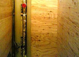 施工品質04:2Fからの排水管
