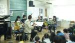 東京三鷹市、小学校での「訪問演奏」