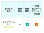 ZEHビルダー ☆☆☆☆☆ 5つ星評価、戴きました!
