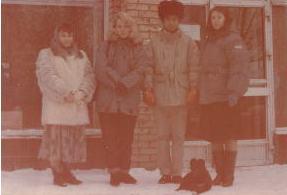 モスクワでロシア人美女と記念撮影