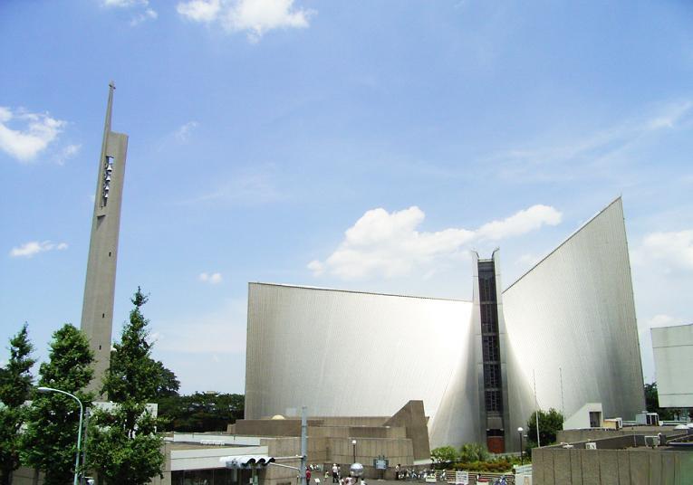 東京・目白 「丹下健三」設計「東京カテドラル聖マリア大聖堂」