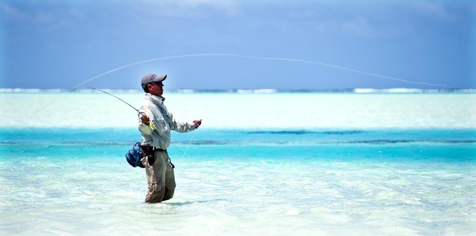 クック諸島 ラグーンでのフィッシング
