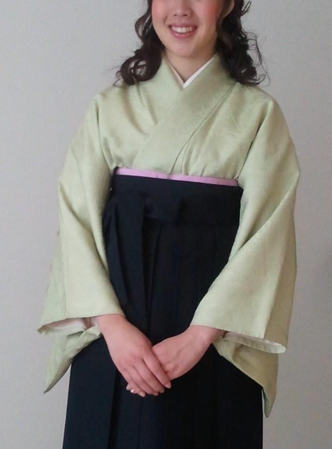 正統派の着付け   卒業式の袴