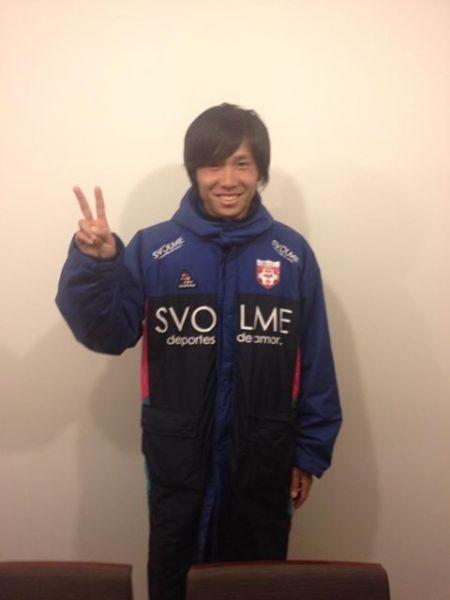 岩手県初のJチームの先発FWの吉岡選手