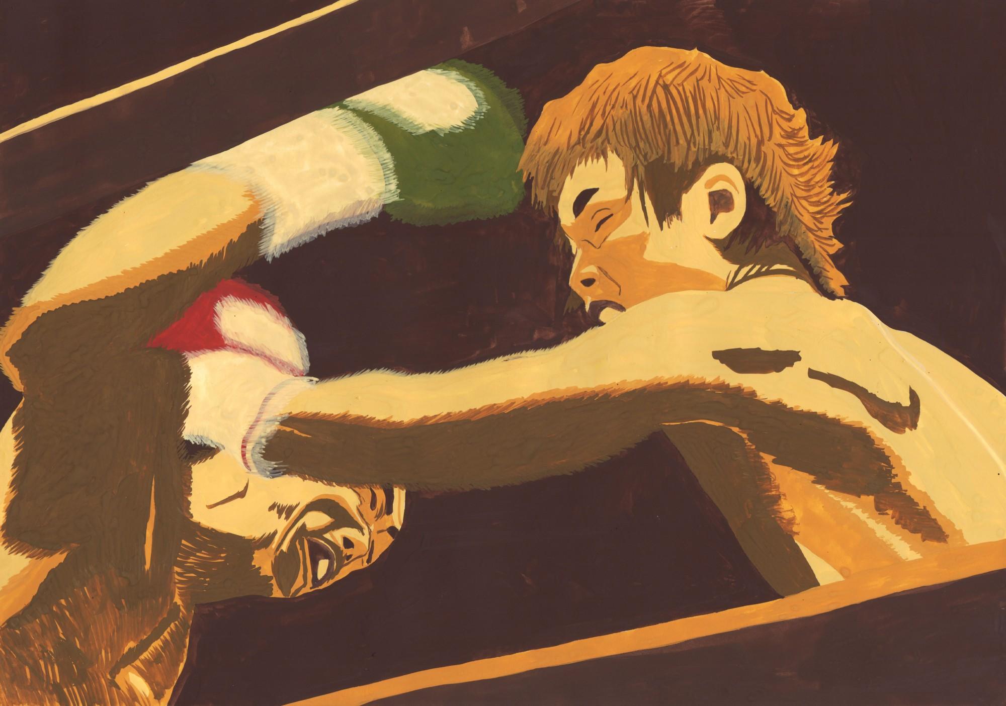 イラスト「躍動(田部井要選手世界チャンピオンへの軌跡1)」