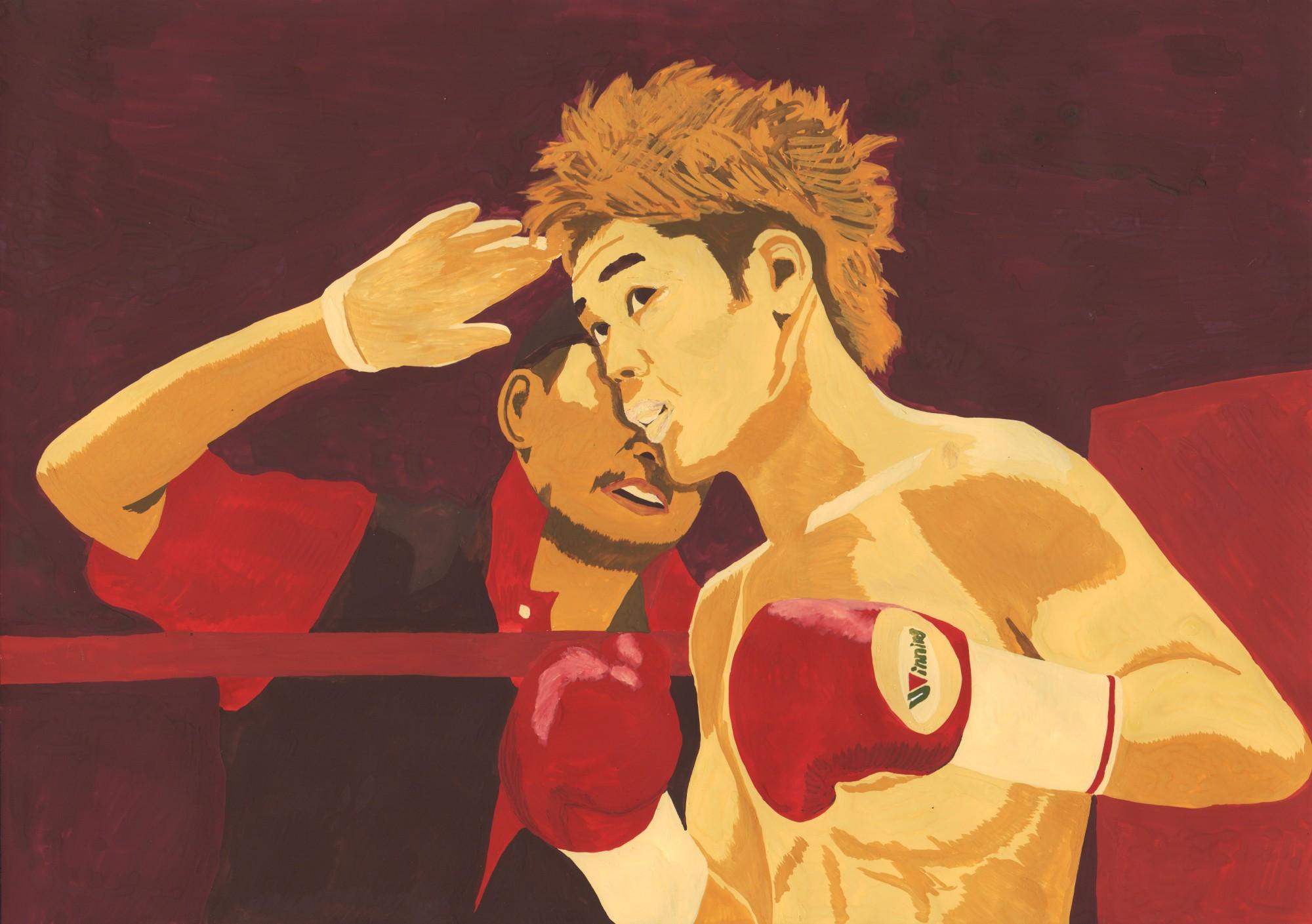 イラスト「ゴング(田部井要選手世界チャンピオンへの軌跡2)」