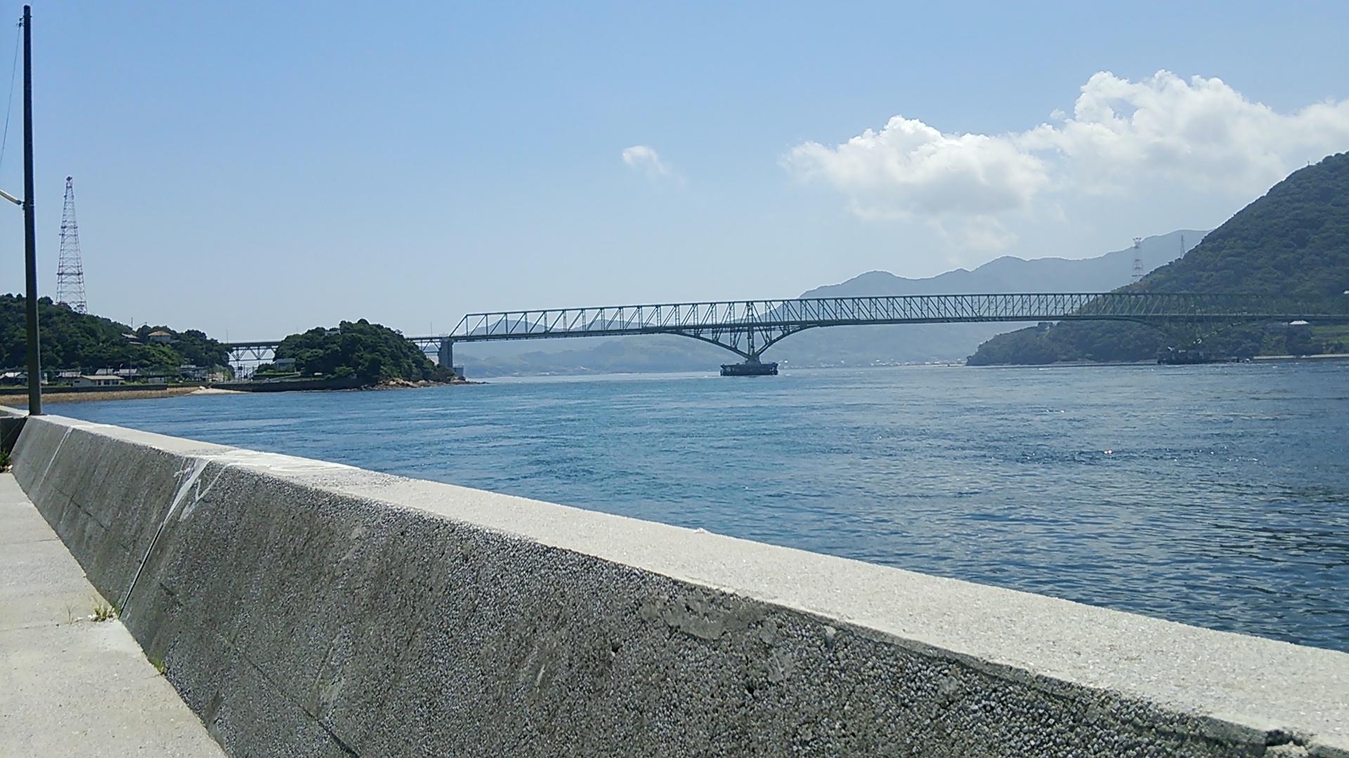 柳井市大畠からの大島大橋の眺め