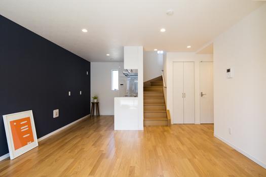 収納の家(ライフスタイル住宅) リビングデザイン