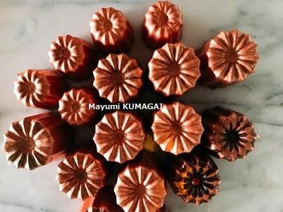 カヌレの型は銅型が一番。