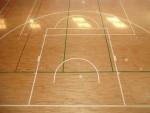 コート引き(バスケットボールライン改線)仕上げ写真