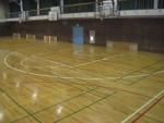 体育館 床 改修 工事(ライン引き直し)仕上がり写真