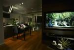 オリジナルデザインのテレビボードで、すっきりとした空間に!!