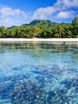 クック諸島ラロトンガのラグーンです