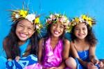 クック諸島子供たちの笑顔