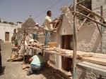南イタリアでの修復研究1 石造りの屋根(キアンカレ)の修復