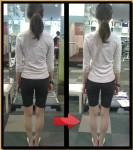 肩幅も狭くなって、太ももが4センチ以上細くなる