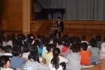 一本松小学校にて木村敬一選手の講演会