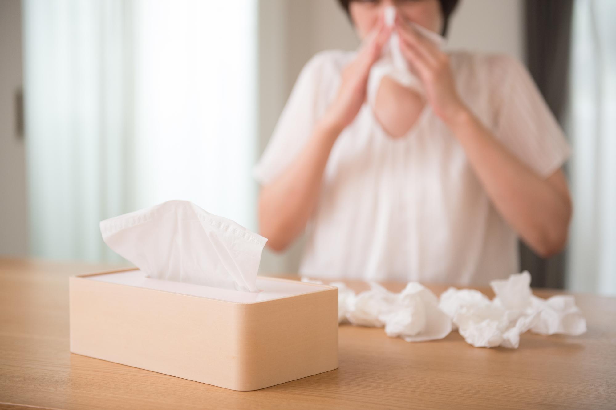 鼻水が止まらない辛い花粉症に