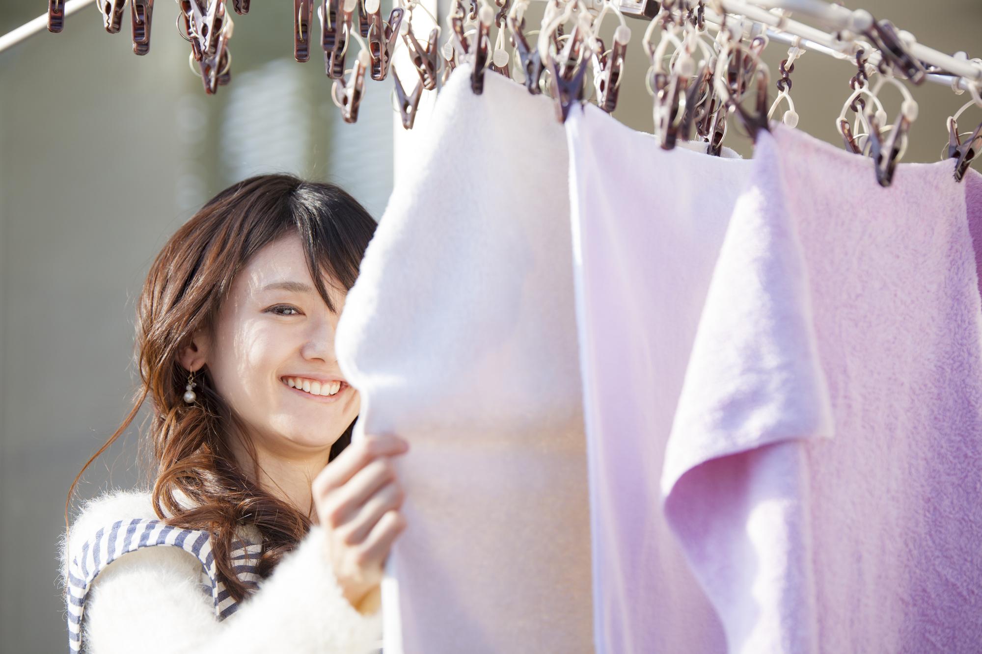 花粉も気にせず洗濯できる