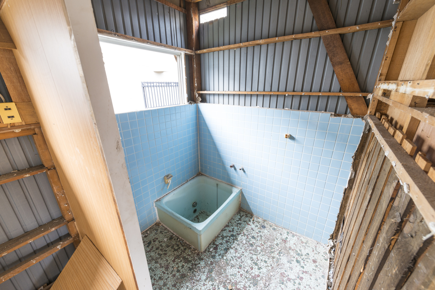 リフォームで浴室を解体したときの例