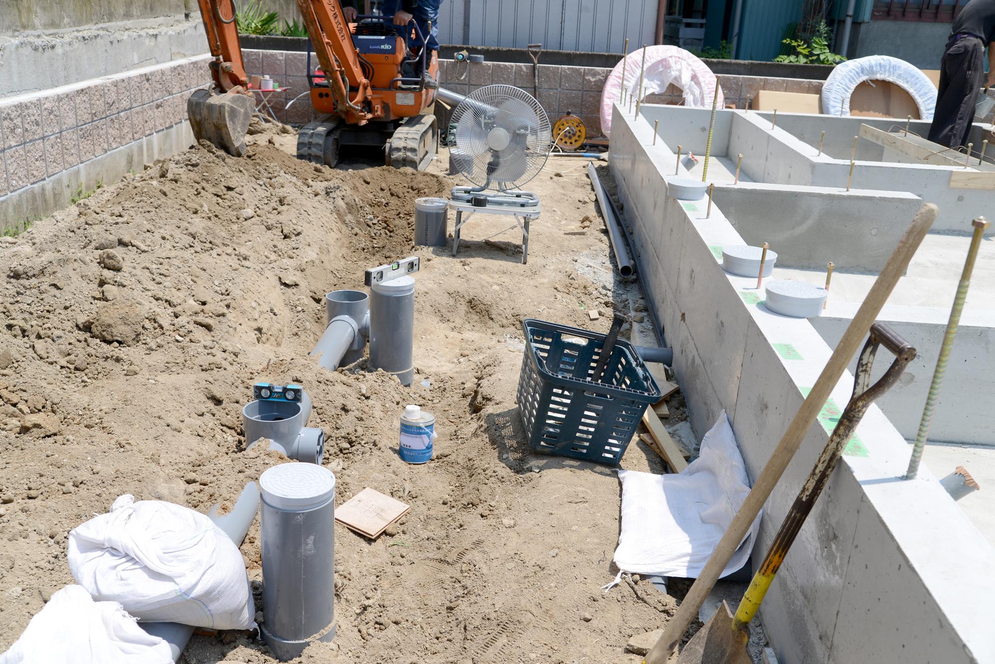 配管と排水経路をチェック
