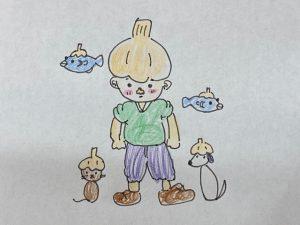高知店★ニンニクと魚